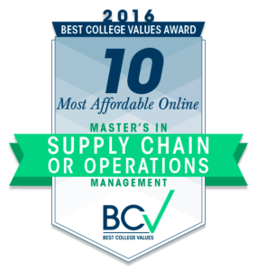 10 most affordable online masters degrees in supply chain or operations management 2016