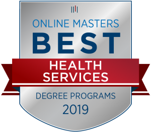 2019 Health Services Award from OnlineMasters.com