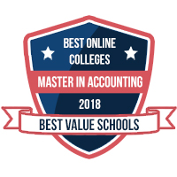 Best Online Colleges - Master in Accounting 2018 Best Value Schools Award