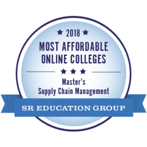 Online MBA with Supply Chain Management concentration ranked 12th among most affordable