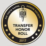 Friends Named to Phi Theta Kappa's 2017 Transfer Honor Roll