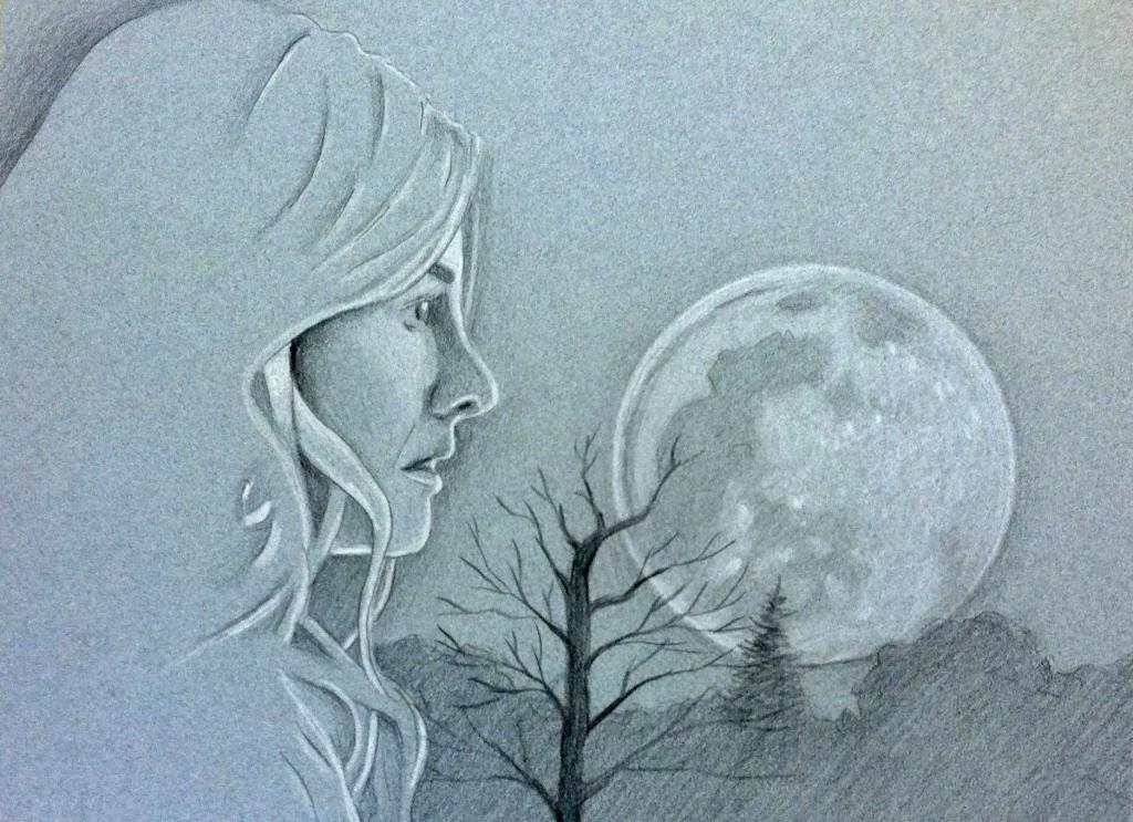 Blue Moon - Pencil