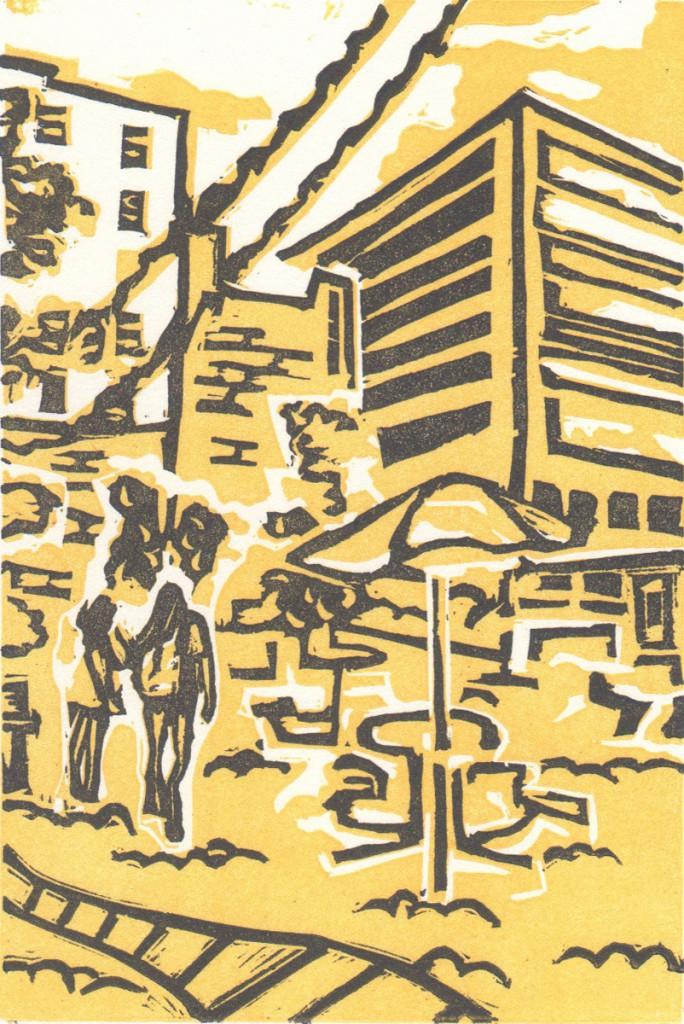 Linoleum Block Print by Kelli Henderson
