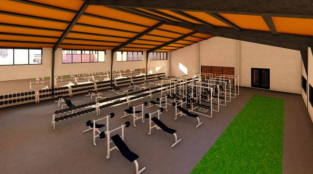 Garvey Center Weight Room Rendering
